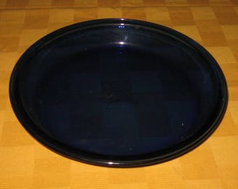Cobalt Pie Plate Made by Anchor Hocking