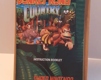 SNES Donkey Kong Country -  Replacement Manual