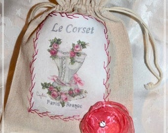Lovely and cute beige cotton and its the CORSET