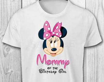 DIGITAL FILE - Minnie Mouse Mommy of the Birthday Girl - Minnie Mouse Birthday Iron On Transfer - Minnie Mouse Birthday Shirt Printable