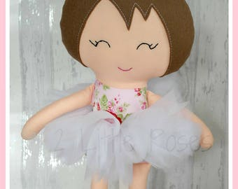 18 inch Handmade Brown Haired Ballerina Doll