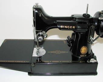 Singer  221 Featherweight Sewing Machine-1957