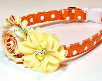 Summer Dog Collar ~ Girl Dog Collar ~ Girl Dog collar with Flower - Pet Collar - Girl Dog Accessories - Dog Collar for Girls