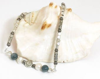 Full Moon Over the Deep Blue Sea Necklace