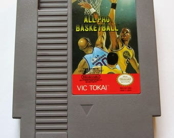 Vintage Nintendo Game NES All-Pro Basketball