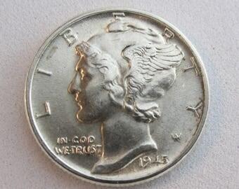 1945 Silver Mercury Dime Uncirculated
