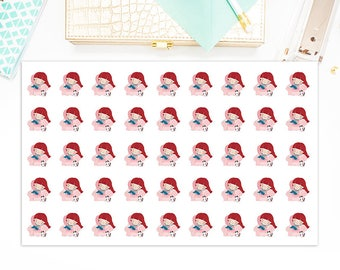 Planner Girl Lazy Day Redhead, Planner Girl Redhead Planner Stickers, Matte Glossy, Sticker Sale, 5878