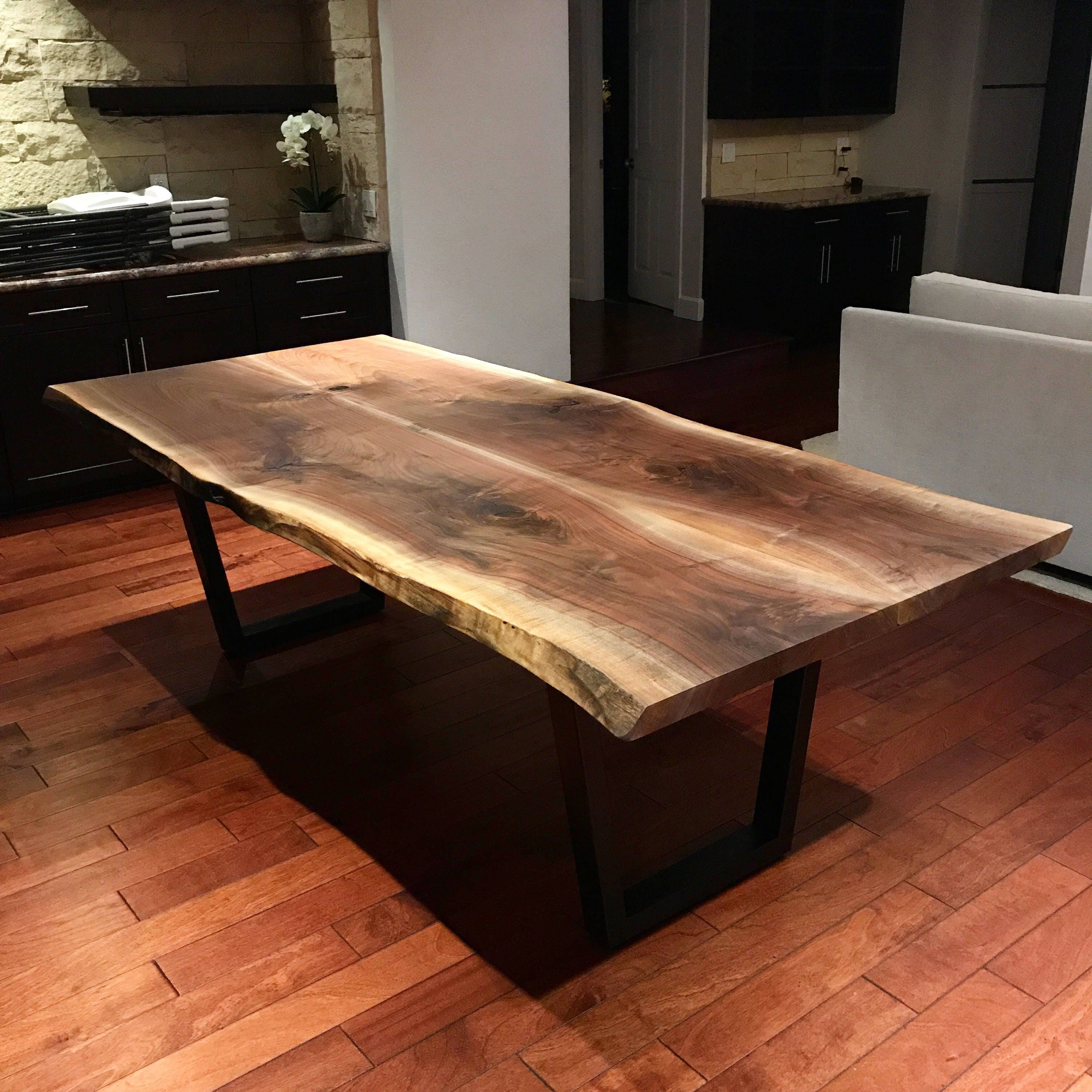Live Edge Kitchen Table: Live Edge Black Walnut Dining Table By Dog And Pig Furniture