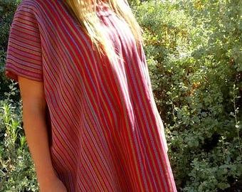 BUYBYE20OFF Guatemalan Huipil Style Tunic Blouse Size L/Xl
