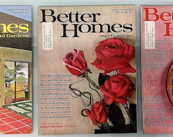 1968 Better Homes and Gardens Three (3) Issues January - February - March