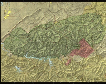 Poster, Many Sizes Available; Map Of Great Smoky Mountains National Park 1988