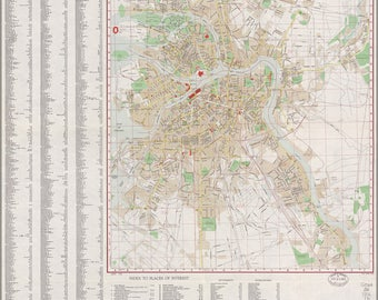 Poster, Many Sizes Available; Cia Map Of Leningrad. Saint Petersburg 1956
