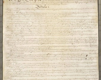 20% Off Sale - Poster, Many Sizes Available; Constitution Of The United States