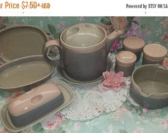 Vintage Mikasa Aruba Ben Seibel Discovery Line Serving Sets and Casserole Pink Grey Dish  Pottery Dishware