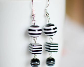 Squaring the circle - earrings for women