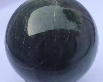 Dark green Serpentine Sphere 63 - 535grams