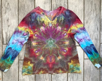 Radiant Beams - Ice Dyed Shirt - Women's XL (16-18)