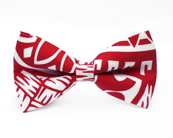 Red & White Tribal Bow