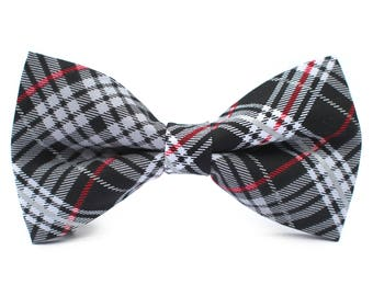 Winter Plaid Bow Tie | Red Plaid Bow Tie | Bow Tie for Boys | Bow Tie for Dog | Mens Bow Tie | Self Tie | Dog Bow Tie | Boys Bow Tie