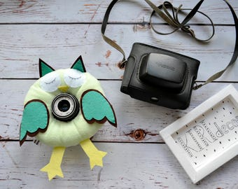 Owl, camera buddies, camera lens buddy, toys, photographer helper.Camera Accessories,photo helper,funny face buddy