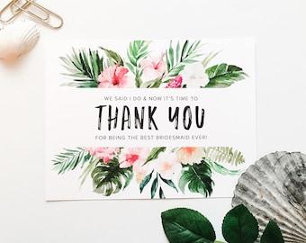 Thank you bridesmaid, Bridesmaid thank you, Wedding thank you, Bridesmaid gift, Thank you for being, Wedding Notecard, Maid of honor