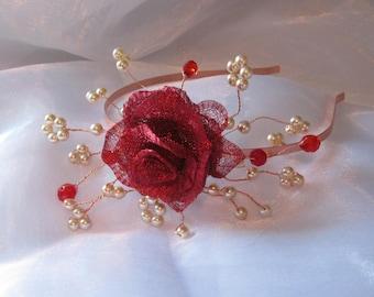 Rose hairband