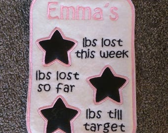 Magnetic Personalised Weightloss Chalkboard