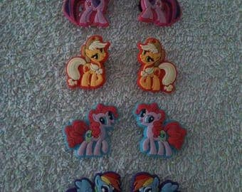 Lot 8 jibbitz My little pony (badges for fangs)