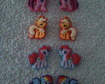 Lot 8 jibbitz My little pony (badges for fangs)