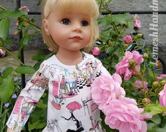 Doll dress for Gotz dolls.18 inch Doll Clothes. Gotz happy kidz doll dress.