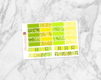 August Quarter Boxes and Weekend Banners | Planner Stickers for Erin Condren Life Planners, Happy Planners, Personal Planners & more!