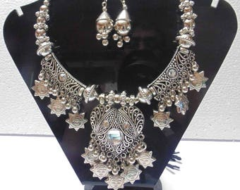 Tribal ethnic jewelry necklace | belly Dance gypsy kuchi banjara goth boho jewelry|oxidized necklace| Tribal Jewelry