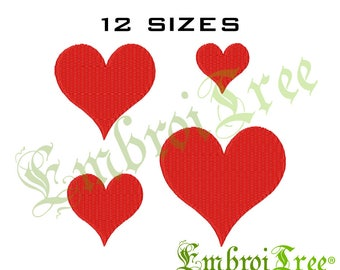 Heart Embroidery Design - Machine Embroidery Heart Download