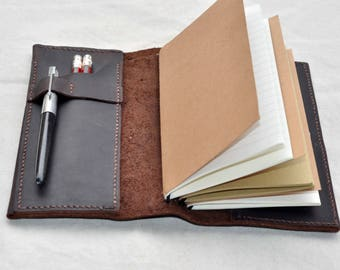 Personalized  Leather Journal notebook refillable  leather journal