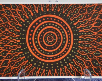 Solar Flare ~ A5 Greeting Card ~ Fineliner Pens ~ Staedtler Pens ~ Black ~ Orange