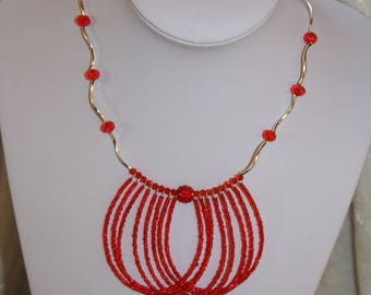 Red necklace for bride