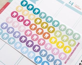 Repositionable dentist sticker, tooth stickers, planner stickers, reminder dental sticker, appointment eclp filofax happy planner kikkik