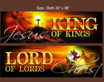 KING and LORD - Two Banner Set (G618)
