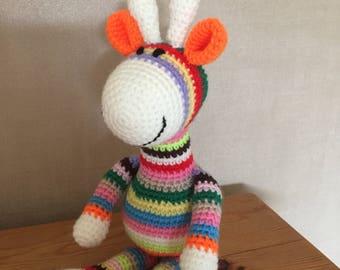 Colourful handmade giraffe