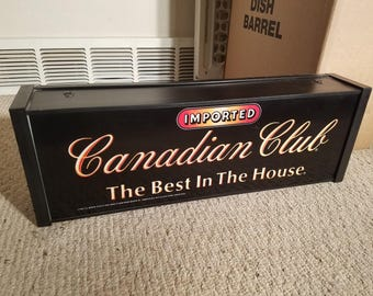 Canadian Club Whiskey Light Up Bar Sign (Collector's Item - Bar, Man Cave)