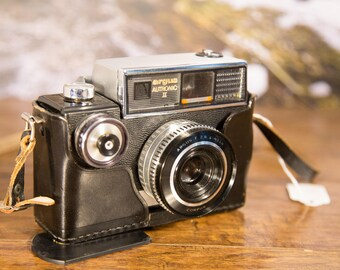 Argus Autronic II 35mm Film Rangefinder Camera with Leather Case #O27