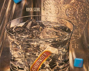 Smirnoff Vintage Magazine Ad - Rock Czar - 1989 LIFE Magazine #AD3