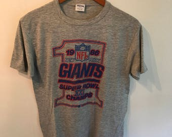 Vintage Giants 1986 Super Bowl Champs Super Soft T Shirt