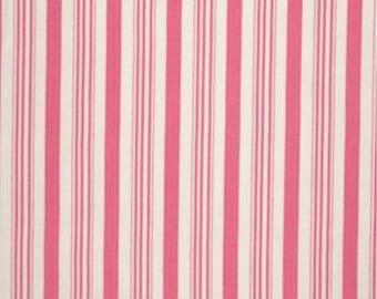 Tanya Whelan Fabric - Barefoot Roses, Legacy Collection, Ticking in Pink Stripe - HALF YARD