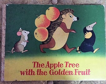 ADORABLE! The Apple Tree with the Colored Fruit - Illustrated Book - 1955