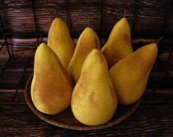 Primitive Pear Bowl Fillers ~ Farmhouse Fruit Ornies ~ Cupboard Tucks