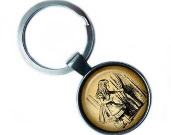 Alice in Wonderland - Alice Curtain Keychain Keyring