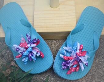 Turquoise Flip Flops