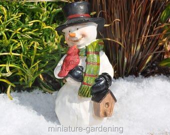 Smiley the Snowman for Miniature Garden, Fairy Garden