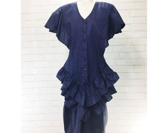 BNWT Vintage David Benjamin Cotton Tiered Dress